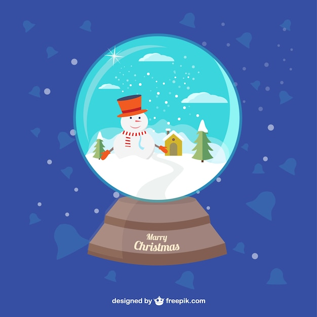 Bola de cristal de mu eco de nieve descargar vectores gratis - Bola nieve cristal ...