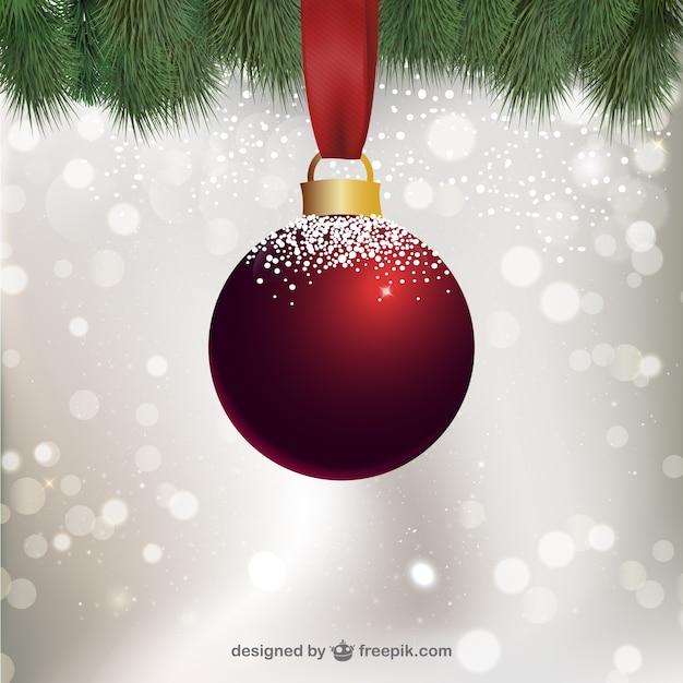 Bola de navidad con nieve descargar vectores gratis - Bola nieve navidad ...