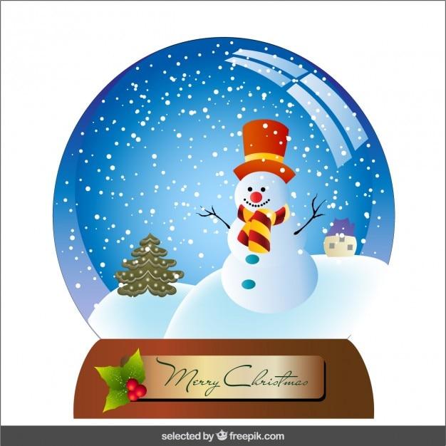 bola de nieve con el mu eco de nieve y rboles de navidad descargar vectores gratis. Black Bedroom Furniture Sets. Home Design Ideas
