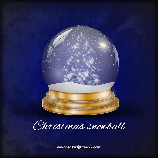 Bola de nieve de navidad descargar vectores gratis - Bola nieve cristal ...