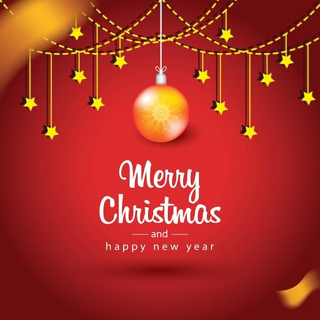 bola y estrellas navideñas doradas descargar vectores premium