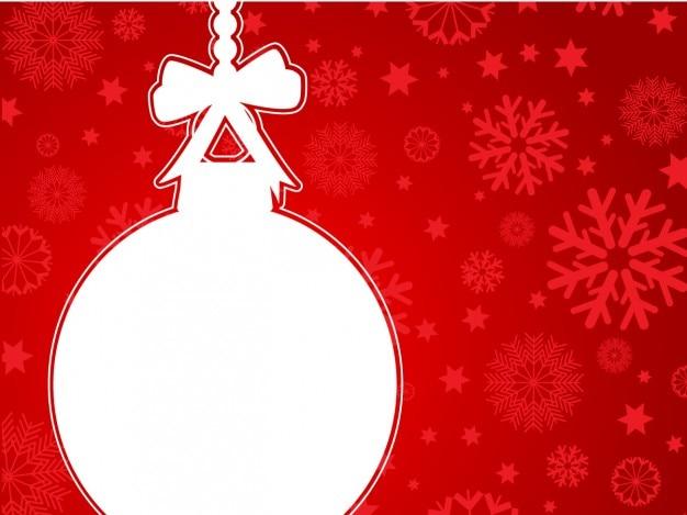 Bolas De Navidad Rojas Sobre Fondo Verde: Bola De Navidad Blanca Sobre Fondo Rojo