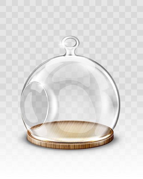 Bola de navidad de cristal, cúpula colgante con agujero vector gratuito