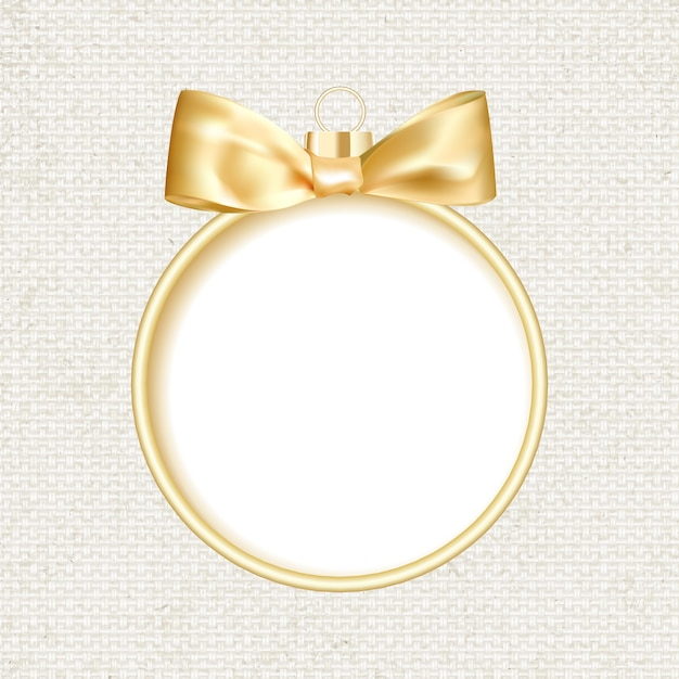 Bola de navidad dorada sobre fondo gris. vector gratuito