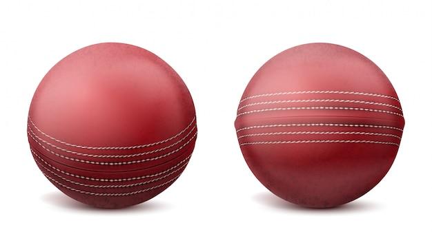 Bolas de cricket conjunto ilustración aislada vector gratuito