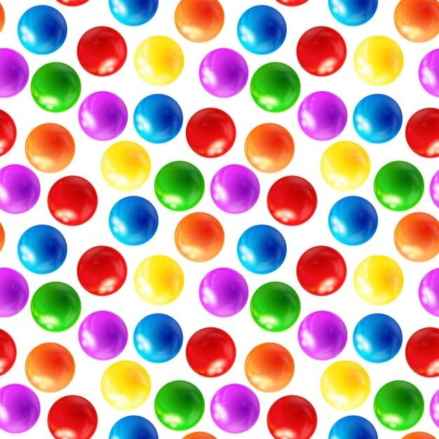 Bolas de colores patr n sin fisuras descargar vectores - Bola de discoteca de colores ...