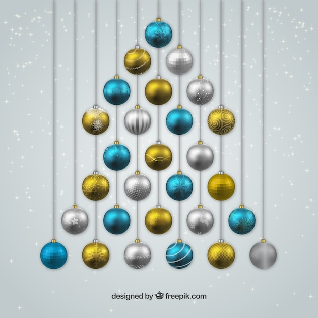 Bolas de navidad azules plateadas y doradas descargar - Bolas de navidad doradas ...