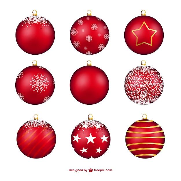 Bolas de navidad de color rojo | Descargar Vectores gratis