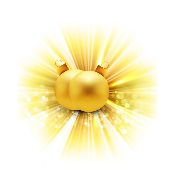 Bolas de navidad doradas brillantes descargar vectores - Bolas de navidad doradas ...
