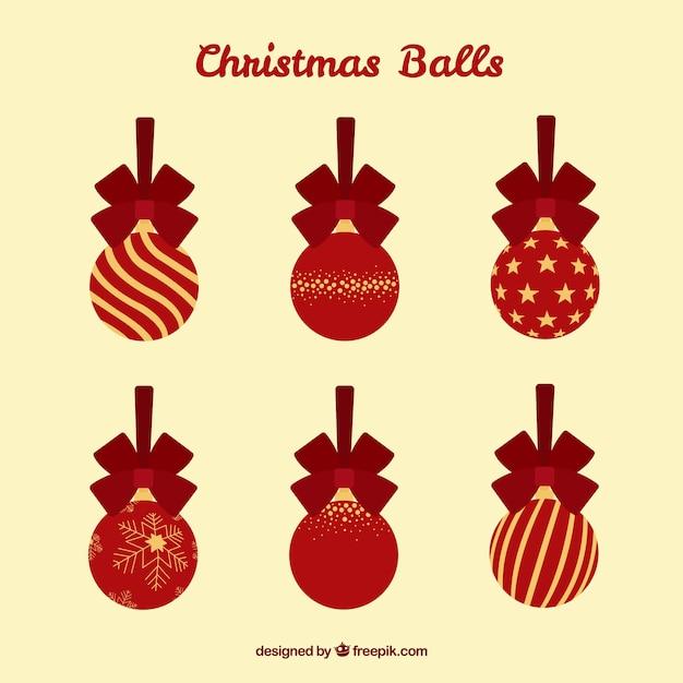Bolas de navidad planas rojas y doradas descargar - Bolas de navidad doradas ...