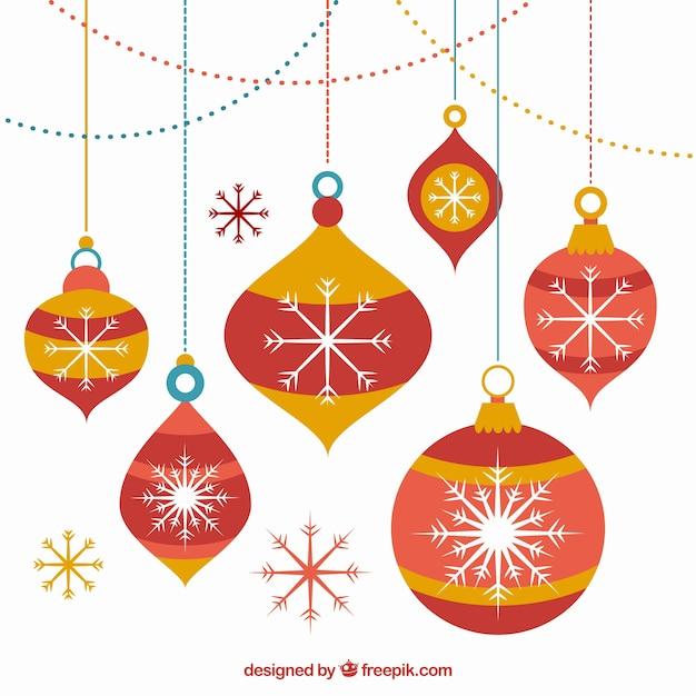 Bolas de navidad rojas dibujadas a mano descargar - Bolas de navidad rojas ...