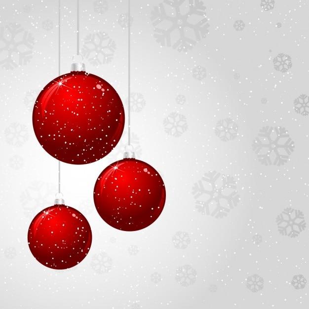 Bolas de navidad rojas sobre fondo blanco descargar - Bolas de navidad rojas ...