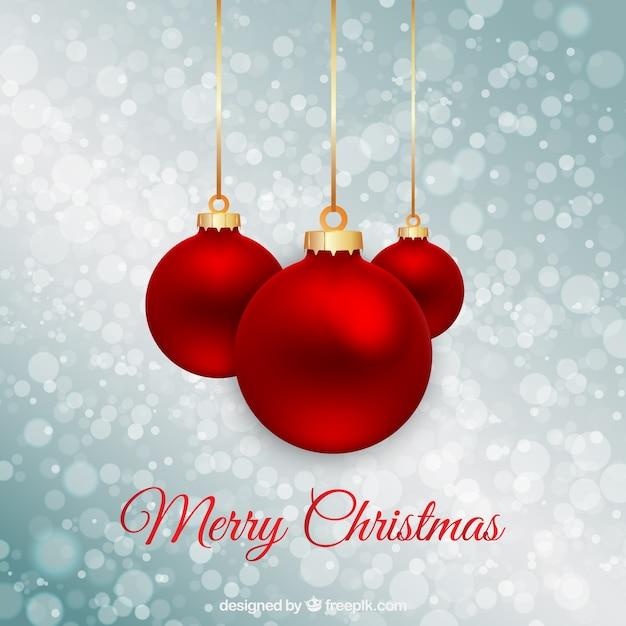 Bolas de navidad rojas sobre fondo bokeh descargar - Bolas de navidad rojas ...