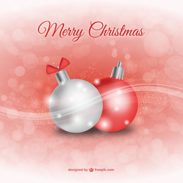 Bolas de navidad rojas y blancas descargar vectores gratis - Bolas de navidad rojas ...
