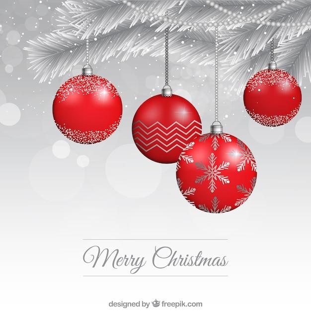 Bolas de navidad rojas descargar vectores gratis - Bolas de navidad rojas ...
