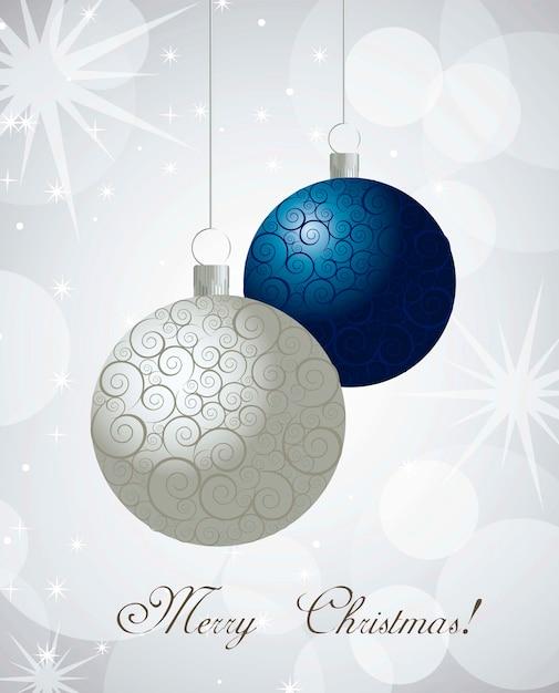 Bolas de navidad con adornos sobre vector de fondo claro | Descargar ...