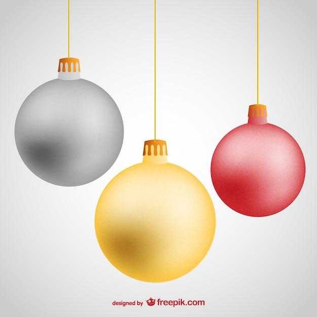 Bolas de navidad de colores vector gratuito