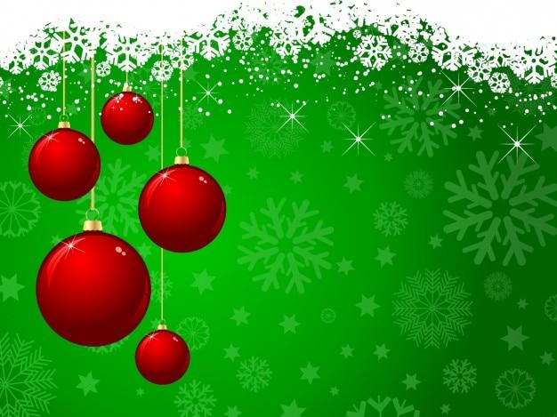 Vector Deportes Bolas Patrón De Fondo: Bolas De Navidad Rojas Sobre Fondo Verde