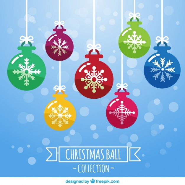 Bolas navide as fant sticas con copos de nieve descargar for Figuras de nieve navidenas