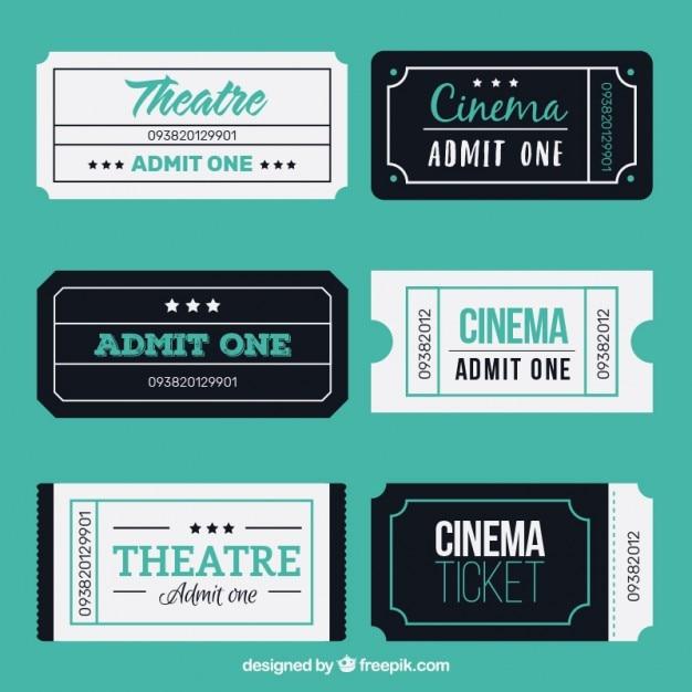 Boletos threatre plana y cine | Descargar Vectores gratis