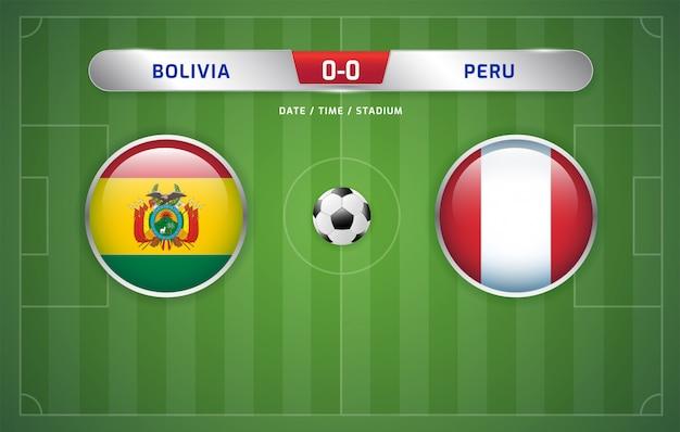 Bolivia vs perú marcador de fútbol emitido torneo de sudamérica 2019, grupo a Vector Premium