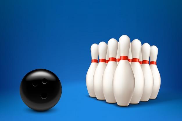Bolos con pelota Vector Premium