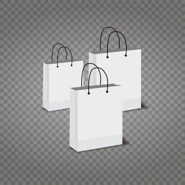 69275b265 Bolsas de compras de papel fijadas en fondo transparente | Descargar ...