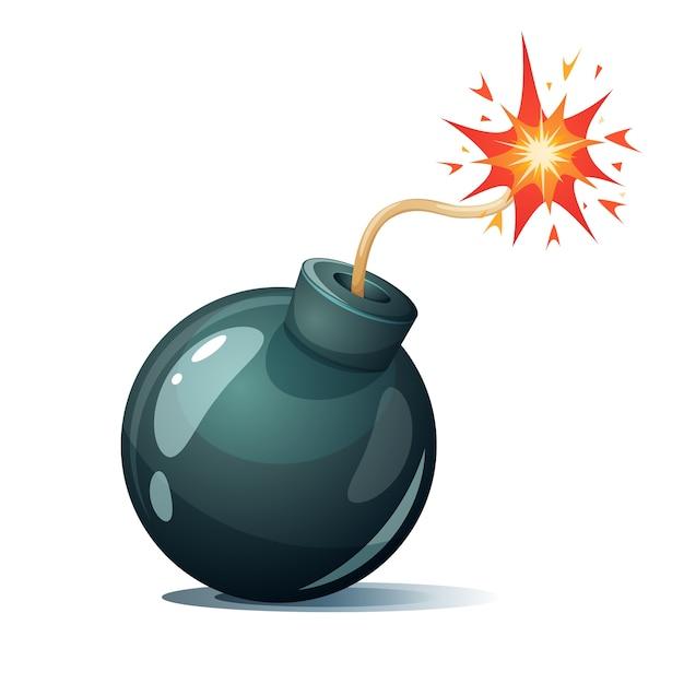 Bomba de dibujos animados Vector Premium