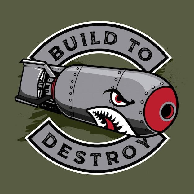 Bomba de tiburón Vector Premium