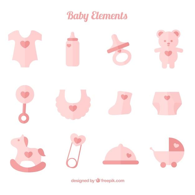 Bonita colección de accesorios de bebé en color pastel  0b0829c1378