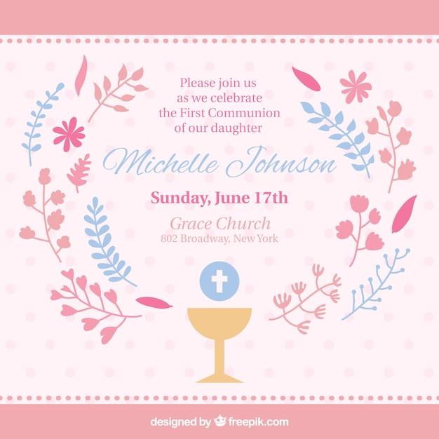 invitaciones de primera comunion gratis para descargar
