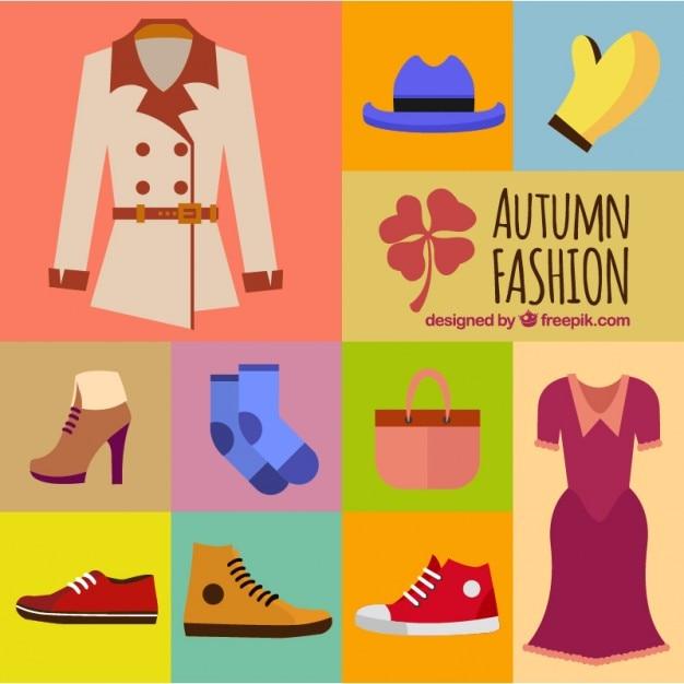6595dc17ede Bonita ropa para la temporada de otoño | Descargar Vectores gratis