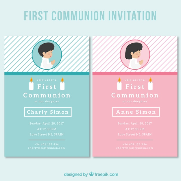 da90fef172034 Bonitas invitaciones de primera comunión