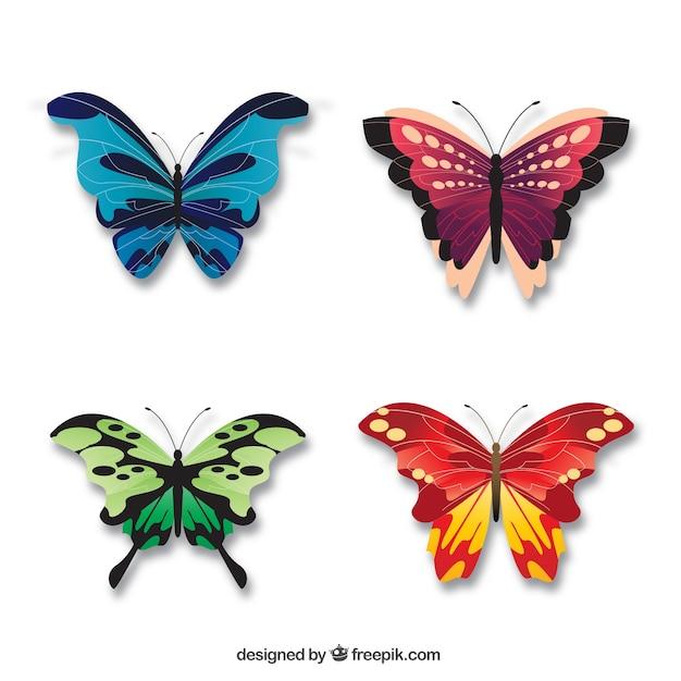 Bonitas Mariposas Elegantes Descargar Vectores Gratis
