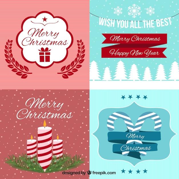Bonitas tarjetas de navidad en estilo vintage descargar - Bonitas tarjetas de navidad ...