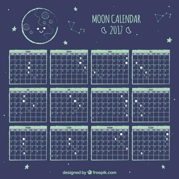 Fases de la luna fotos y vectores gratis Calendario 2017 con lunas