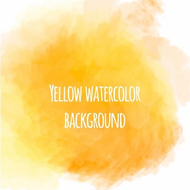 Bonito fondo de acuarela de color amarillo Vector Gratis
