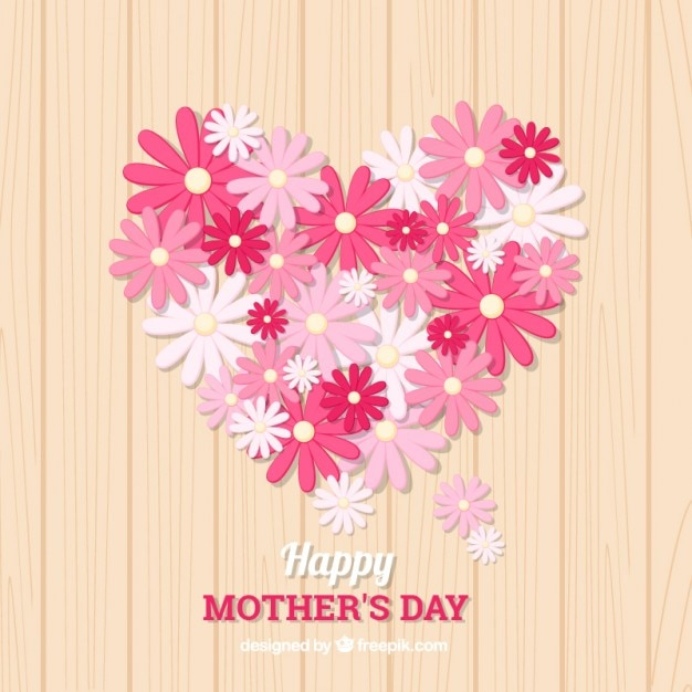 bonito fondo del día de la madre con flores rosas descargar