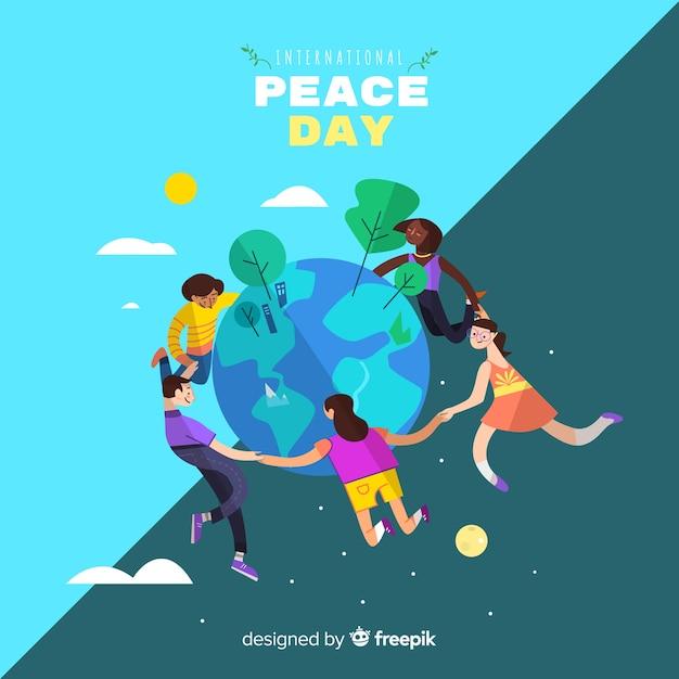 Bonito fondo del día de la paz vector gratuito