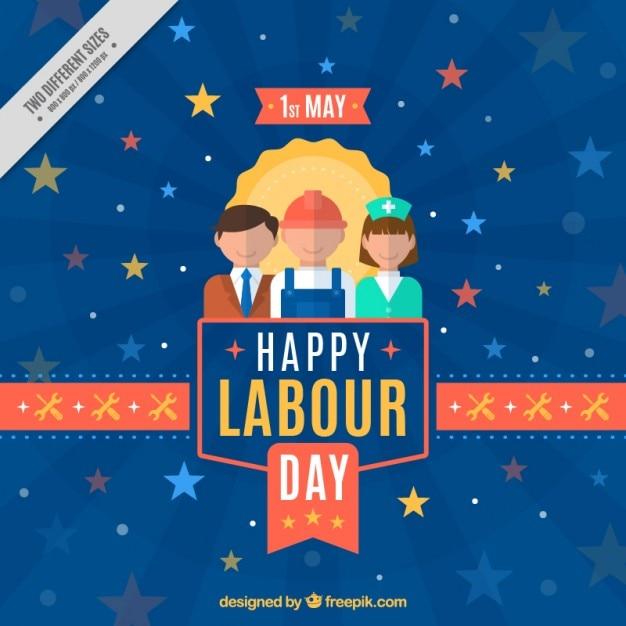 Bonito Fondo Del Día Del Trabajo Con Diferentes Trabajadores