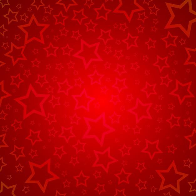 Bonito Fondo Rojo Con Estrellas Para Navidad