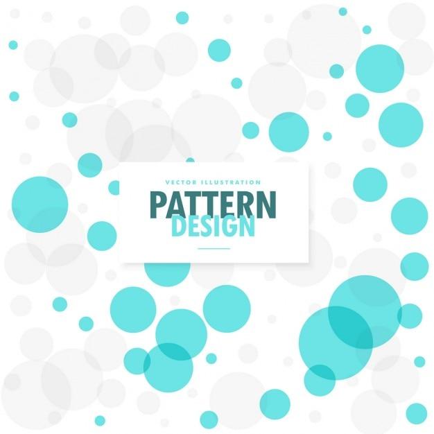 Bonito patrón con puntos azules | Descargar Vectores gratis