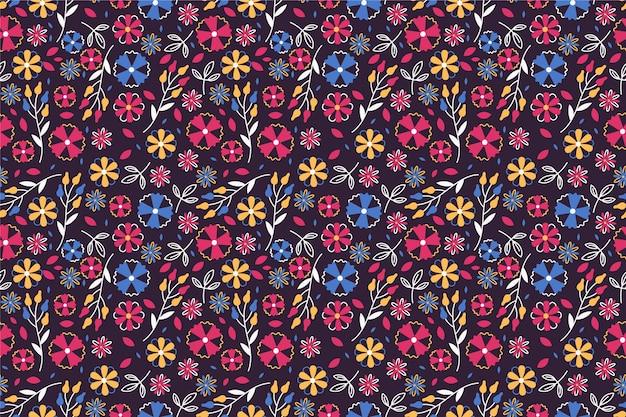 Bonito patrón en flor pequeña vector gratuito