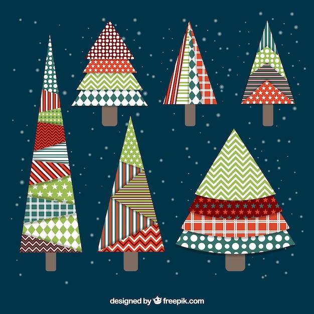 Bonitos rboles de navidad abstractos vintage descargar - Arboles de navidad bonitos ...