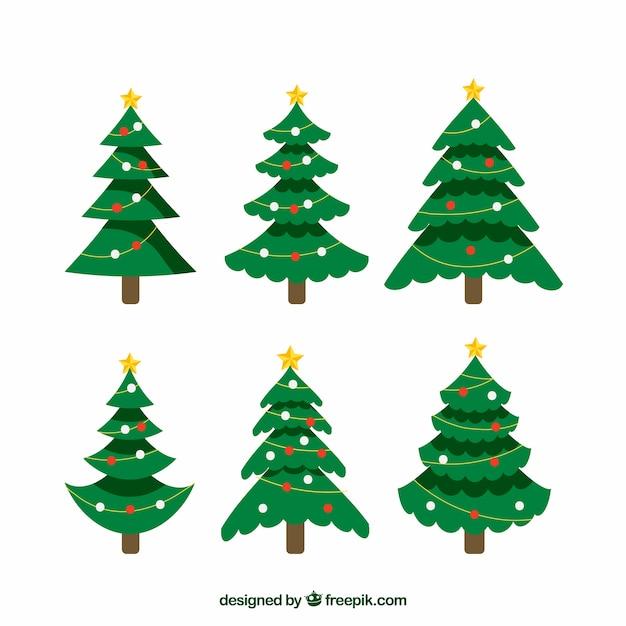 Bonitos rboles de navidad decorados descargar vectores - Arboles de navidad bonitos ...
