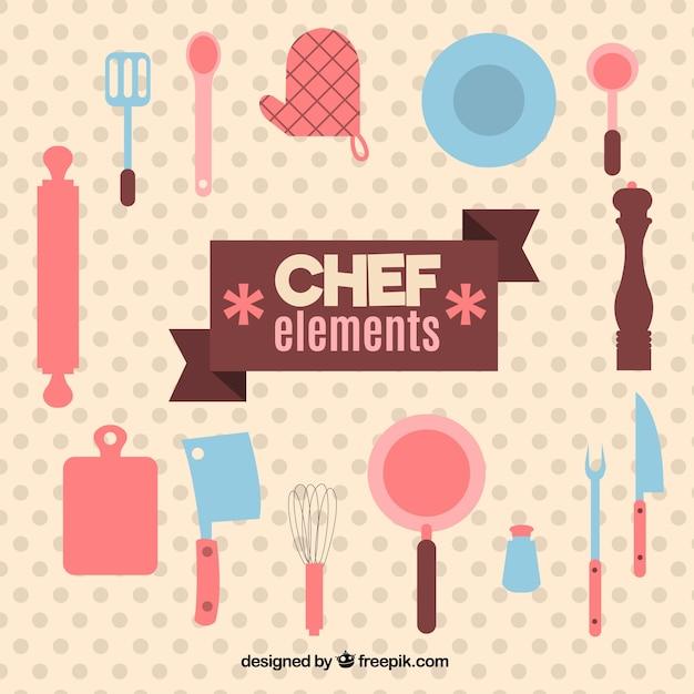 Bonitos utensilios de cocina en diseño plano | Descargar ...