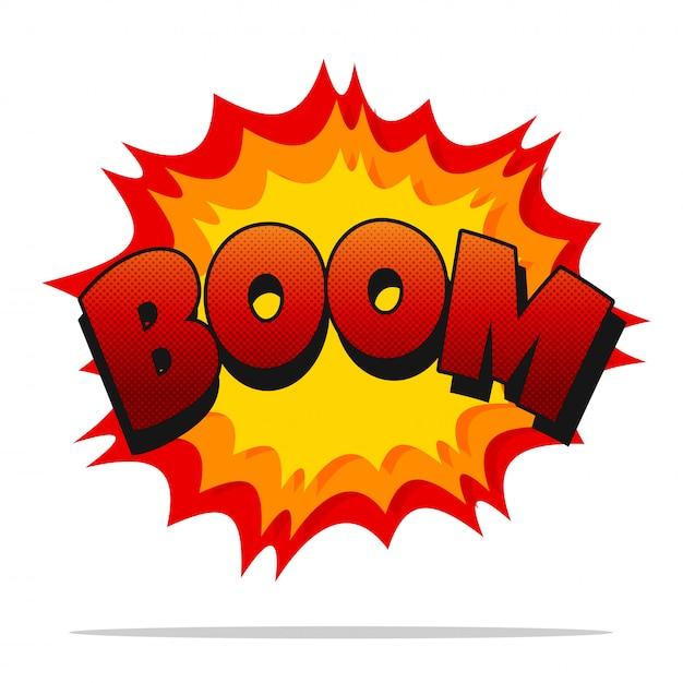 Boom cómico. efecto de sonido de dibujos animados de vector auge ...