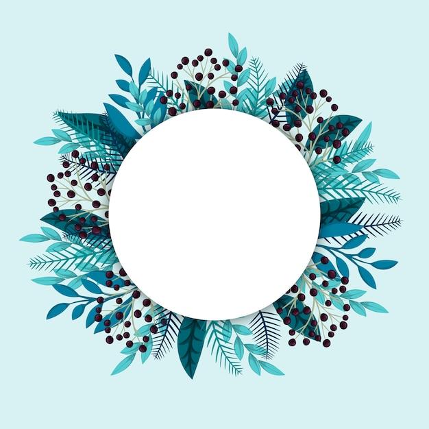 Borde del círculo floral vector gratuito