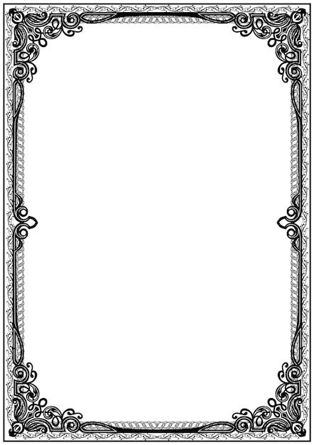 Borde de marco de certificado blanco y negro simple.   Descargar ...
