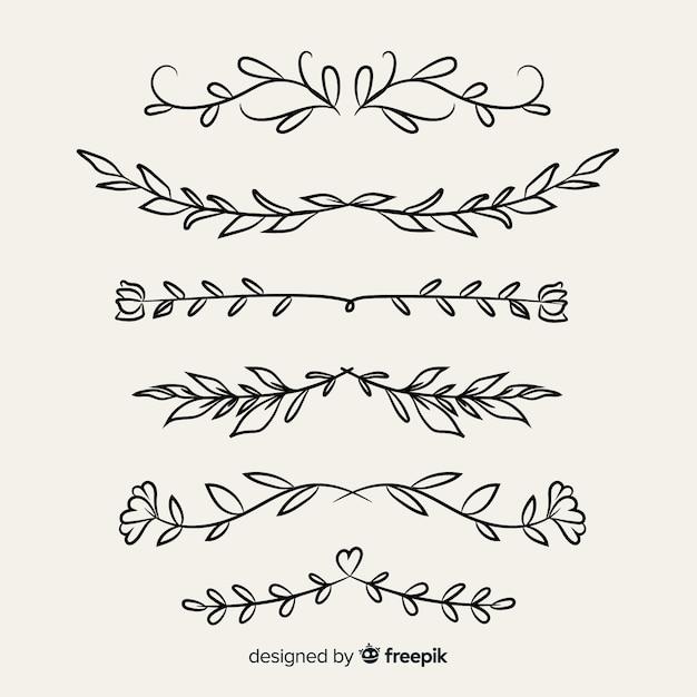 Borde ornamental dibujado a mano vector gratuito